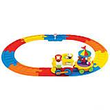 Игровой набор с паровозом «Железная дорога», 041954, фото
