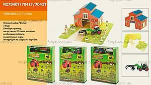 Игровой набор с трактором Farm&Truck, NZ7040T7041T