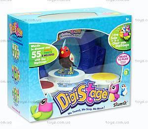 Игровой набор с интерактивной птичкой DigiBirds «Бумбокс», 88268, іграшки