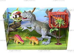 Динозавры, игровой набор с аксесс, звук, 800-67, купить