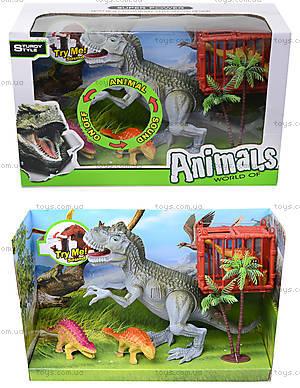 Динозавры, игровой набор с аксесс, звук, 800-67