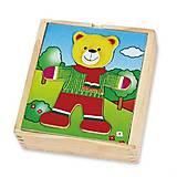 Игровой набор Viga Toys «Гардероб медведя», 56401, купить