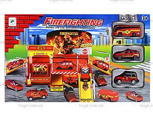 Игровой паркинг «Пожарный» с машинками, 660-77, купить