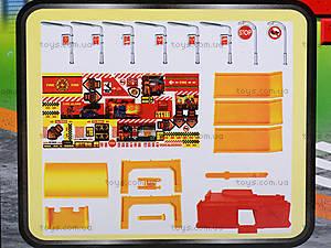 Игровой паркинг «Пожарный» с машинками, 660-77, детские игрушки