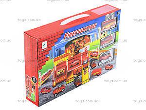Игровой паркинг «Пожарный» с машинками, 660-77, toys.com.ua