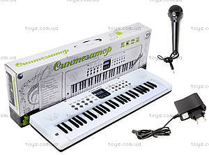 Игровой синтезатор с микрофоном, для детей, HS5416B