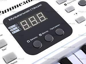 Игровой синтезатор с микрофоном, для детей, HS5416B, toys.com.ua