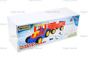 Игровой трактор с прицепом «Гигант», 66100, фото
