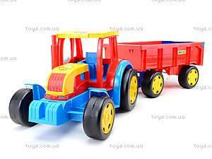 Игровой трактор с прицепом «Гигант», 66100, отзывы