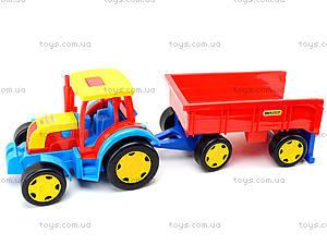 Игровой трактор с прицепом «Гигант», 66100, детские игрушки