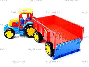 Игровой трактор с прицепом «Гигант», 66100, toys.com.ua