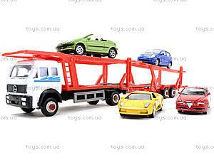 Игровой трейлер с машинками Welly, 79781-10G(G), игрушки
