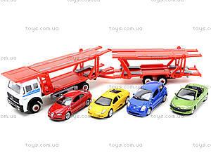 Игровой трейлер с машинками Welly, 79781-10G(G), детские игрушки