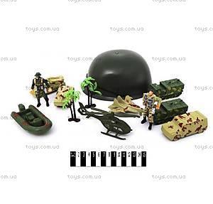 Игровой военный набор с каской, 388-43