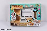 Игрушечная гостинная с пианино для кукол, 012-08B