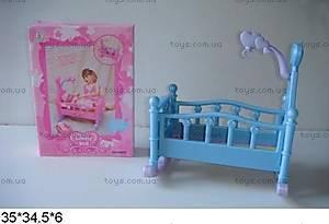 Игрушечная кроватка для кукол, разные цвета, 60553
