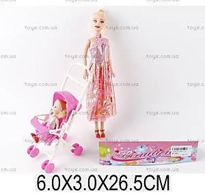Игрушечная кукла мама и малыш в коляске, 666-610