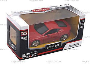 Игрушечная машина Lexus LFA серии «Автодром», 6433, набор
