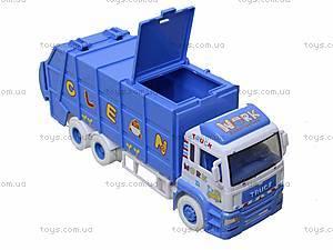 Игрушечная машина «Мусоровоз» для детей, 6304, фото