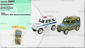 Игрушечная инерционная машина «Милиция», J0087