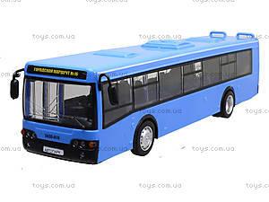 Игрушечнный автобус серии «Автопарк Маршрут», 9690-D, игрушки