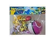 Игрушечные покемоны с покеболом Pokemon GO, BT-PG-0009