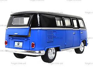 Игрушечный автобус Volkswagen Classical Bus Black Top, KT5376W, магазин игрушек