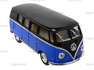 Игрушечный автобус Volkswagen Classical Bus Black Top, KT5376W, toys.com.ua