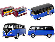 Игрушечный автобус Volkswagen Classical Bus Black Top, KT5376W, фото