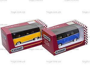 Игрушечный автобус Volkswagen Classical Bus Black Top, KT5376W, toys