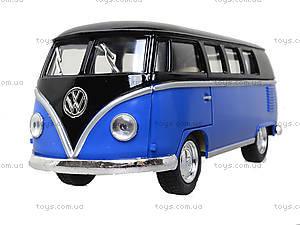 Игрушечный автобус Volkswagen Classical Bus Black Top, KT5376W, іграшки