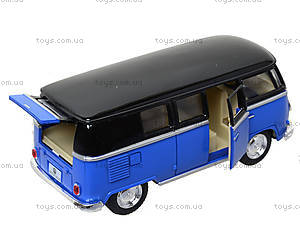 Игрушечный автобус Volkswagen Classical Bus Black Top, KT5376W, Украина