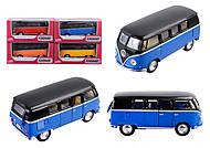 Игрушечный автобус Volkswagen Classical Bus Black Top, KT5376W, интернет магазин22 игрушки Украина