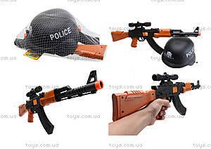 Игрушечный автомат с каской Police, 566A