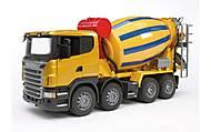 Игрушечный бетоновоз SCANIA R-series, жёлтый, 03554, купить
