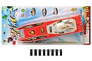 Игрушечный детский катер на батарейках, 8631B, купить