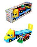 Игрушечный эвакуатор с трактором, 36520