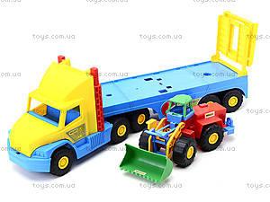 Игрушечный эвакуатор с трактором, 36520, игрушки