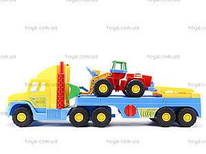 Игрушечный эвакуатор с трактором, 36520, детские игрушки