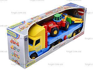 Игрушечный эвакуатор с трактором, 36520, toys.com.ua