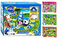 Игрушечный гараж «Робокар Поли», XZ-192, детские игрушки