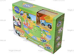 Игрушечный гараж «Робокар Поли», зеленый, XZ-153, детские игрушки
