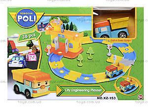 Игрушечный гараж «Робокар Поли», зеленый, XZ-153, toys.com.ua
