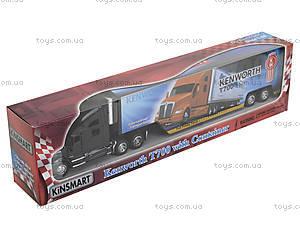 Игрушечный грузовик Kenworth T700 с прицепом, KT1302W, фото