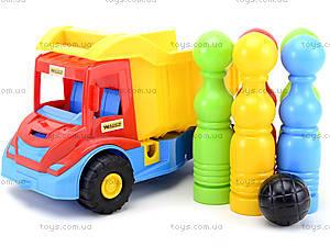 Игрушечный грузовик Multi truck с кеглями, 32220, детские игрушки
