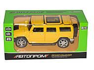 Игрушечный желтый Hummer, 7798