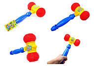 Игрушечный молоток со свистком, 384B, игрушки