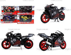 Игрушечный мотоцикл, металлический, XY028