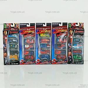 Игрушечный набор машинок «Супергерои», 5136-5666-5
