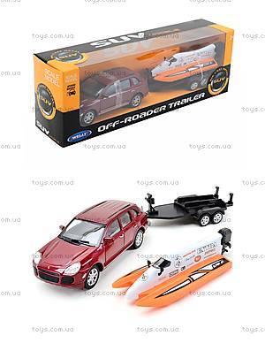 Игрушечный набор Porsche Cayenne Turbo и Power Boat, 39871F-2TB